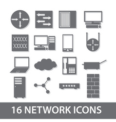 network icon collection eps10 vector image