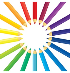 pencil round vector image vector image