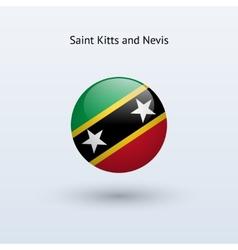 Saint kitts and nevis round flag vector