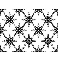 Seamless geometric ornament black pattern vector