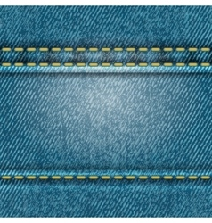 Seamless jeans texture vector image