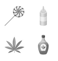 Sweet drug and other monochrome icon in cartoon vector