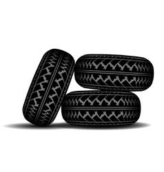 Truck tire track set vector