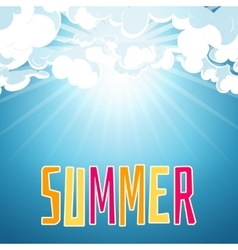 Sunny summer blue sky background vector