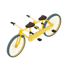 Bicycle tandem icon cartoon style vector