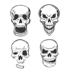 Skull tattoo art in sketch style vector