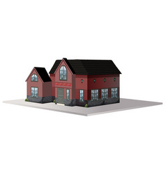 Architecture design for house with black roof vector
