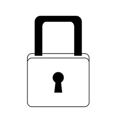 Cyber security padlock access technology concept vector