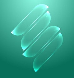 Design light blue glass banners vector image