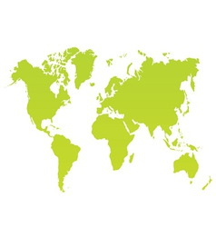 Modern color world map on white background vector