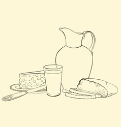 Still life of healthy breakfast vector