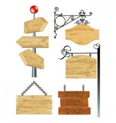 Wooden frames vector