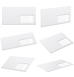 White envelopes vector