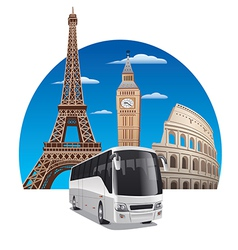 Bus tour vector