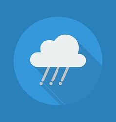 Weather flat icon rainy vector