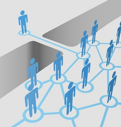 people connect vector image