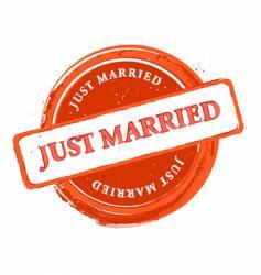 wedding stamp vector image