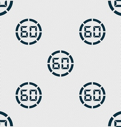 60 second stopwatch icon sign seamless abstract vector
