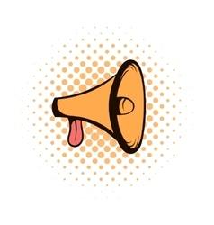 Megaphone loudspeaker comics icon vector