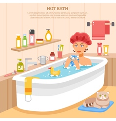 Hot bath poster vector