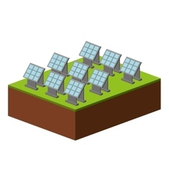 Set panel solar isolated icon design vector