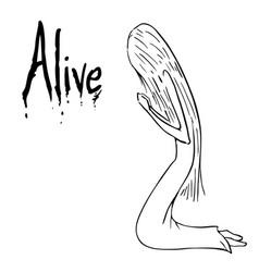 alive cartoon vector image vector image