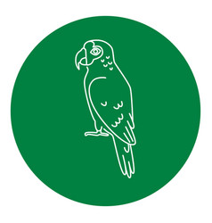 Amazon parrot icon in thin line style vector
