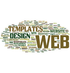are web templates aimed to exterminate the web vector image vector image