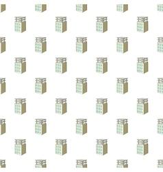 Building construction pattern cartoon style vector