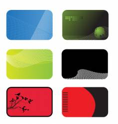 card templates vector image vector image