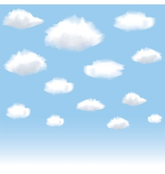 clouds in blue sky vector image
