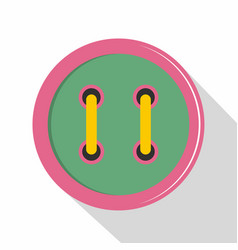 Colorful clothing button icon flat style vector