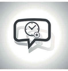Curved add time message icon vector