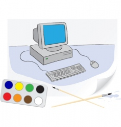 drawing computer vector image vector image