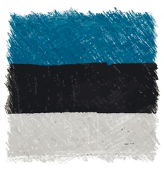 Flag of Estonia handmade square shape vector image vector image