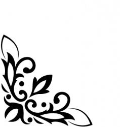 floral corner pattern vector image vector image