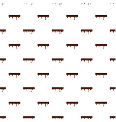 Flowing down chocolate pattern vector