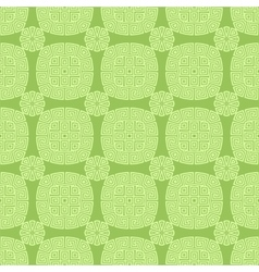 Green seamless geometric greek ornament vector
