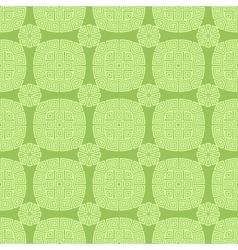 Green seamless geometric greek ornament vector