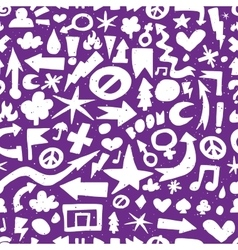 Hand drawn doodle seamless pattern vector image vector image
