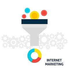 Internet marketing flat concept vector