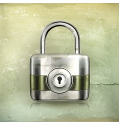 Lock old-style vector image