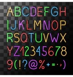 Neon Alphabet Set vector image vector image