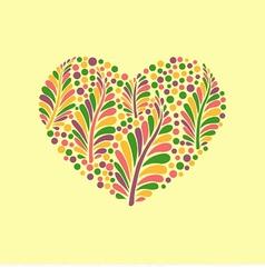 ornamental heart vector image vector image