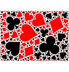Poker card suits background vector image vector image