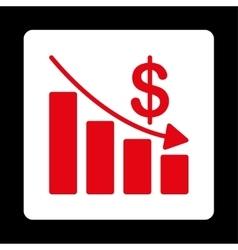 Recession icon vector