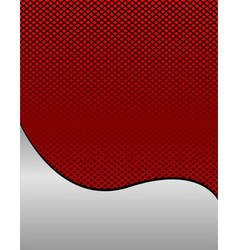 Red wave grid background with place for tex vector