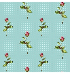 Rose pattern in blue vector