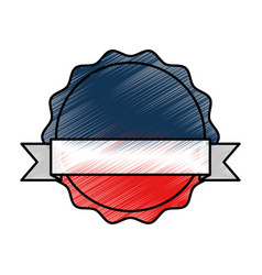 Seal medal isolated icon vector