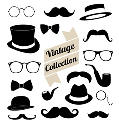 set of collection vintage fashion elements vector image vector image